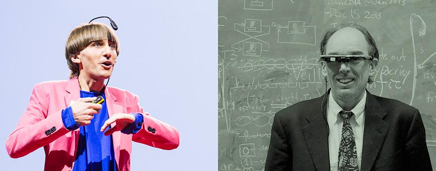 Neil Harbisson (left) Steve Mann (right)