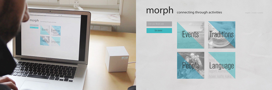 Morph interface and app